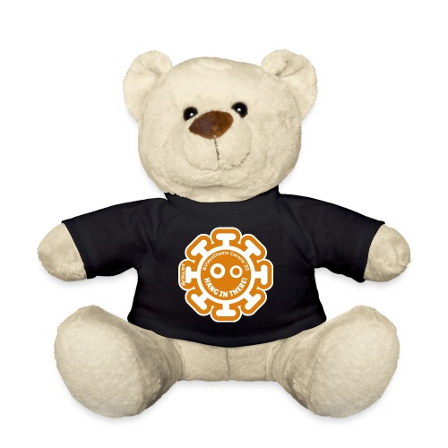 Corona Virus #stayathome orange - Teddy Bear