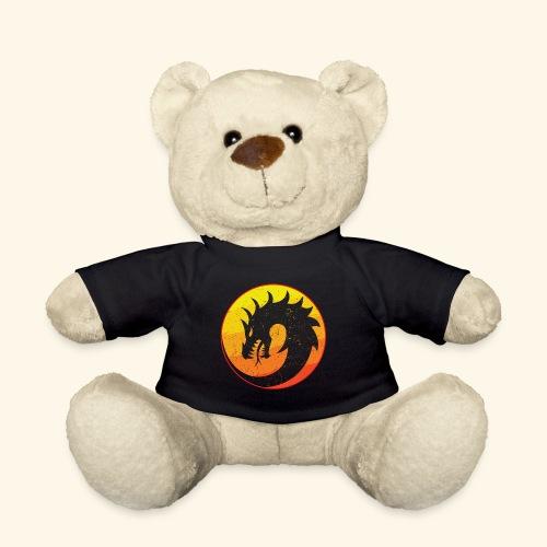 Flaming Dragon Retro - Teddy Bear
