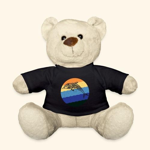 Greek Dolphin Retro - Teddy Bear