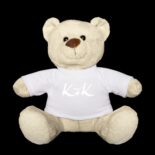 KFK logo blanco - Osito de peluche