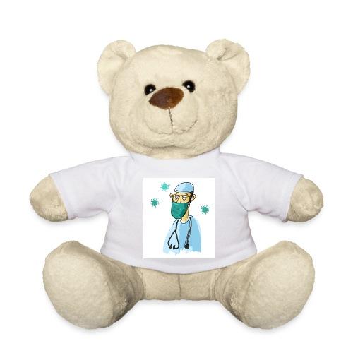 Cartoon Doktor Geschenkidee gezeichnet - Teddy