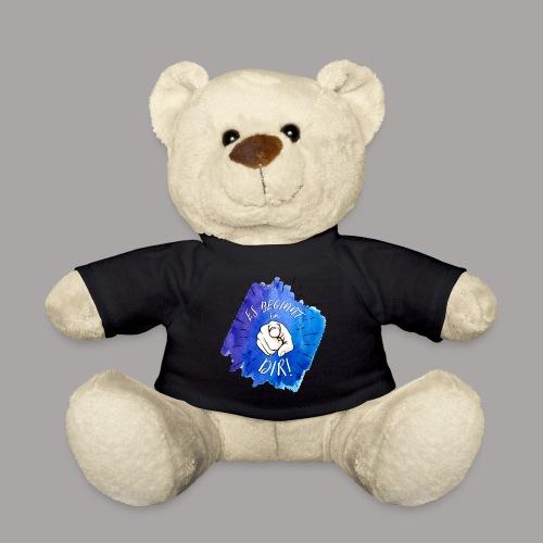 shirt blau tshirt druck - Teddy
