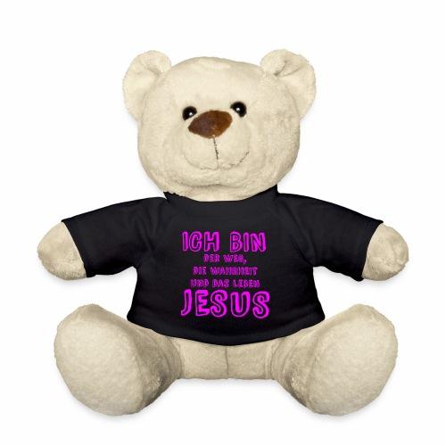 ICH BIN der Weg - pink - Teddy