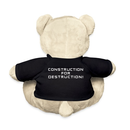 White Negant logo + CONSTRUCTION FOR DESTRUCTION! - Teddybjørn