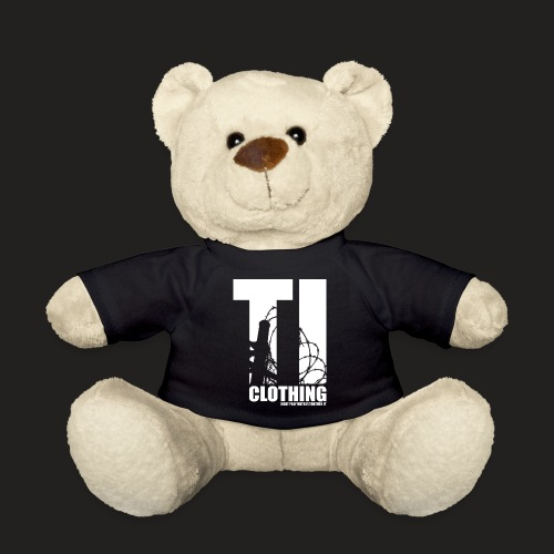 TORTURED IRON LOGO IN WHITE - Teddy Bear