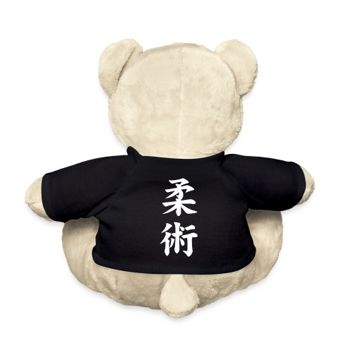 jiu-jitsu på japansk og logo i hvid - Teddybjørn
