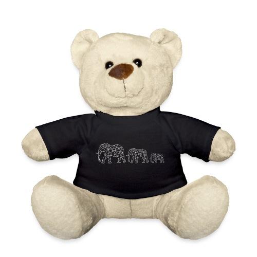 Geometrische Elefantenfamilie - Teddy