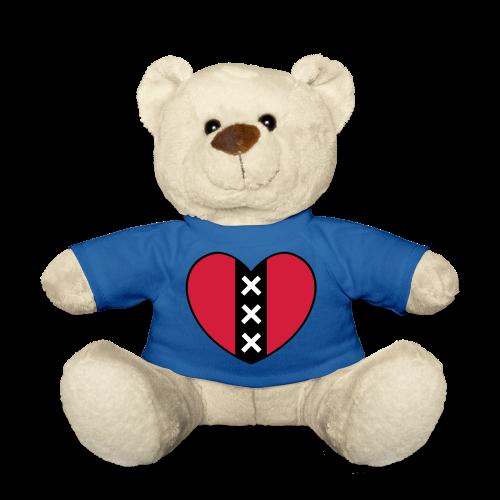 Hart met het symbool van de stad Amsterdam - Teddy