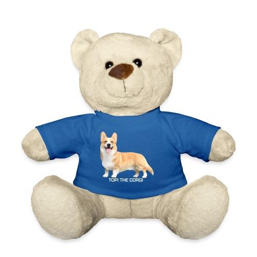 Topi the Corgi - White text - Teddy Bear