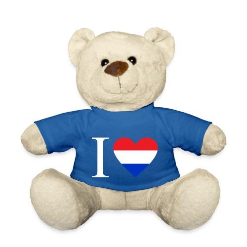 Ik hou van Nederland | Hart met rood wit blauw - Teddy
