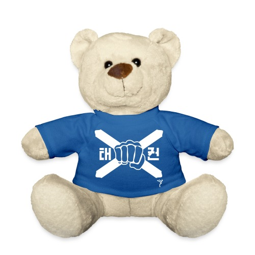 Scotland Taekwondo ITF fist and flag motif - Teddy Bear