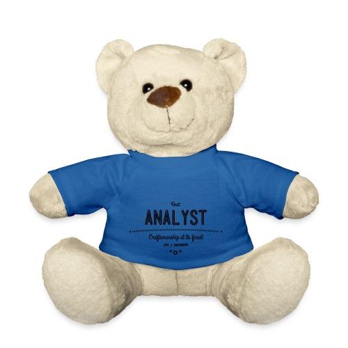 Bester Analyst - Handwerkskunst vom Feinsten, wie - Teddy