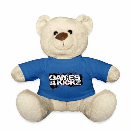Games4Kickz Logo Splattered Background - Teddy Bear