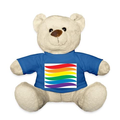 Gay Pride Rainbow Swoosh - Teddy Bear