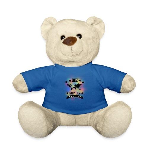 Die Welt mit dir bunt weiss - Klamottendesigns - Teddy