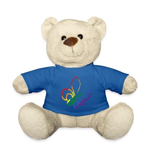 Pinselstrich Lilie Regebogenfahne - Teddy