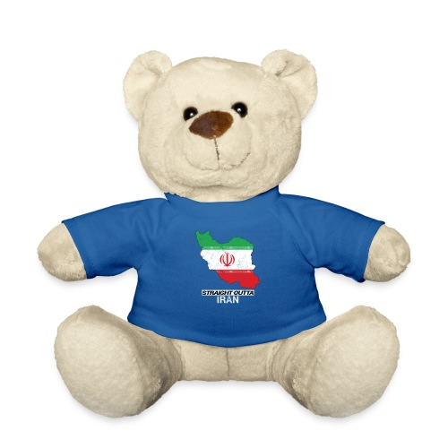 Straight Outta Iran country map & flag - Teddy Bear