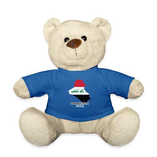 Straight Outta Iraq country map & flag - Teddy Bear