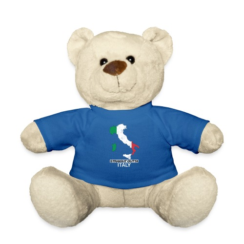 Straight Outta Italy (Italia) country map flag - Teddy Bear
