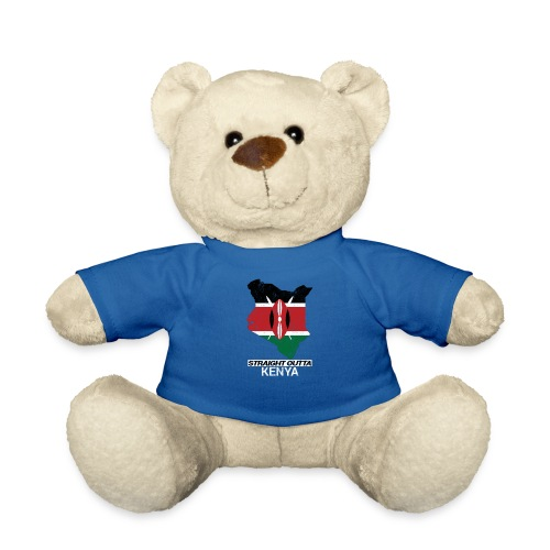 Straight Outta Kenya country map & flag - Teddy Bear