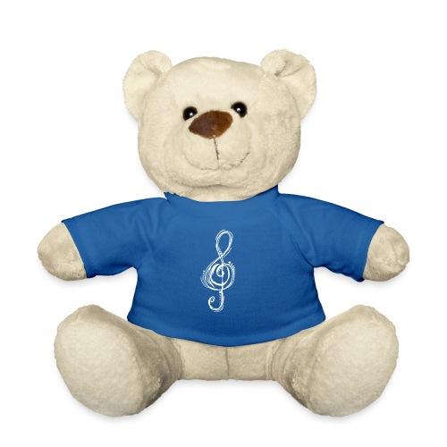 Violinschlüssel weiß - Teddy