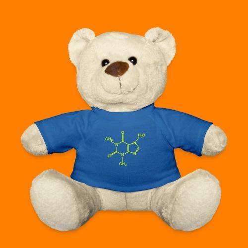 lime green caffeine molecule on navy tee - Teddy Bear