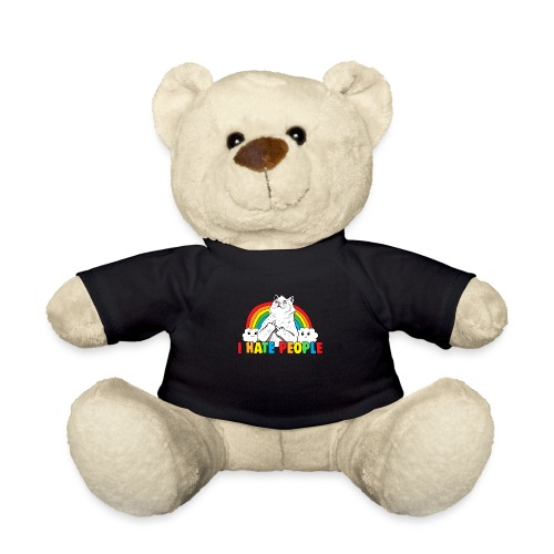 Fluff Off Rainbow Cat Hates People - Teddy Bear