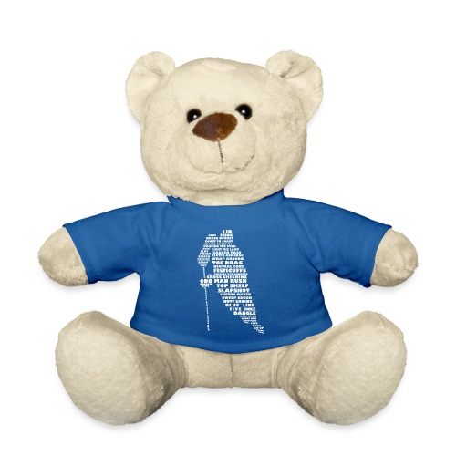 Language of Hockey (White) - Teddy Bear