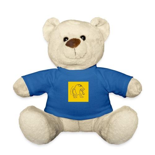 button vektor gelb - Teddy