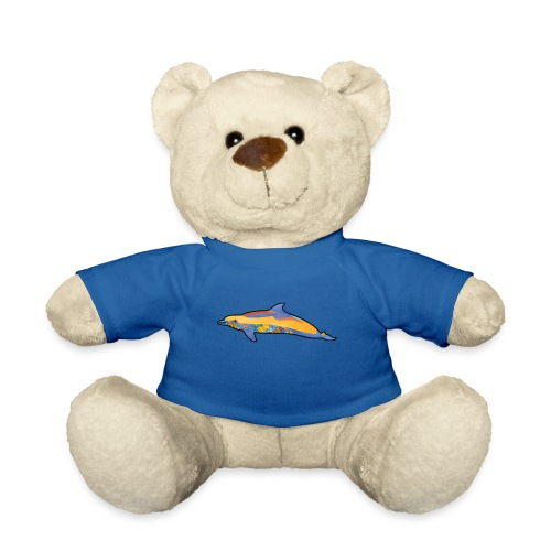 Colorful dolphin - Teddy Bear