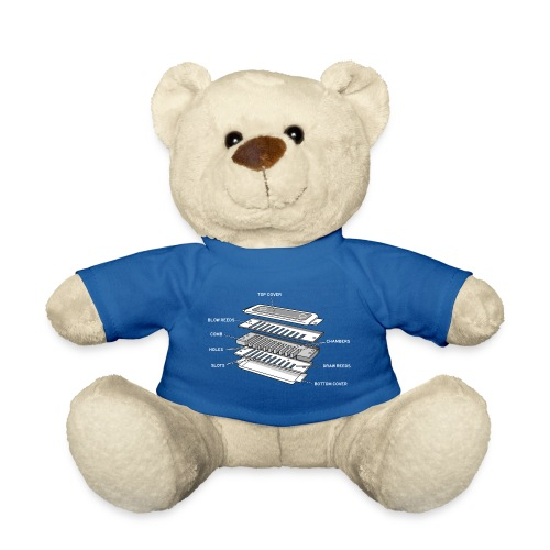 Exploded harmonica - white text - Teddy Bear