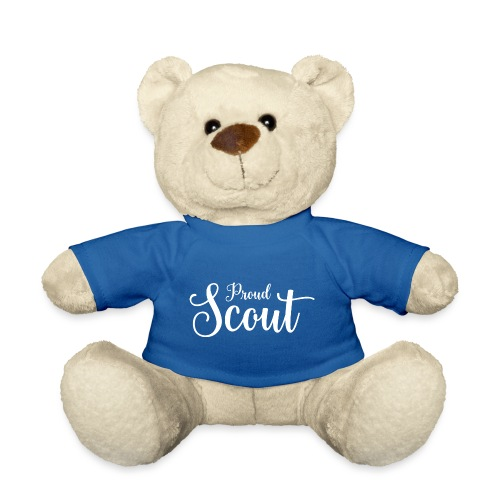 Proud Scout Lettering White - Teddy