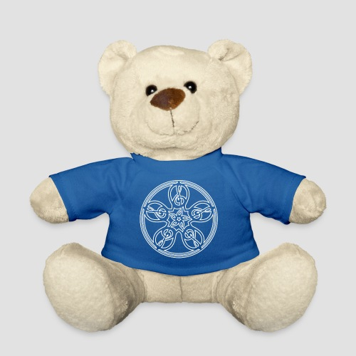 Treble Clef Mandala (white outline) - Teddy Bear
