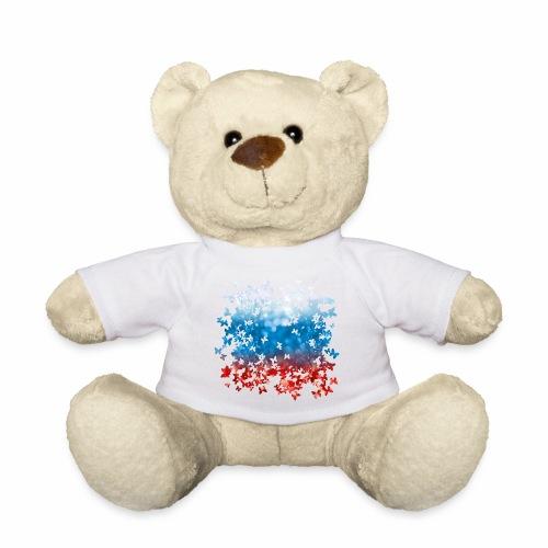 06 Russland Flagge Fahne Russia Schmetterlinge - Teddy