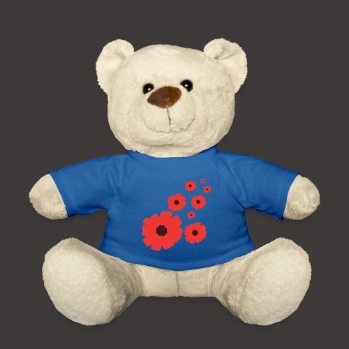 Mohnblüten rot stilisiert, Blumenmotiv - Teddy