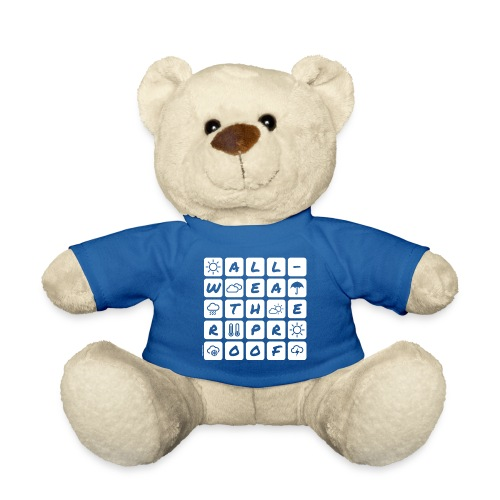 Outdoor - all-weather proof / white-on-black - Teddy