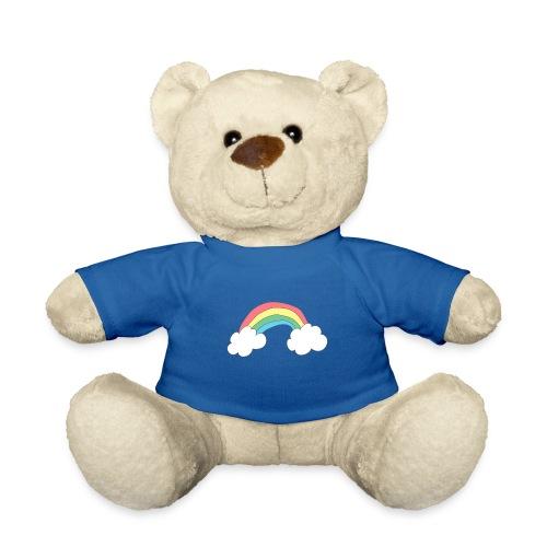 Regnbue - børnetegning - Teddybjørn