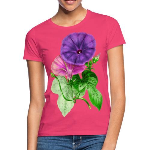vintage mallow flower - Camiseta mujer