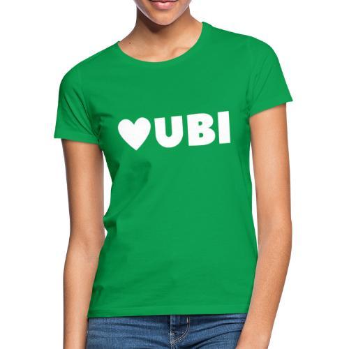 love ubi white trans - Vrouwen T-shirt