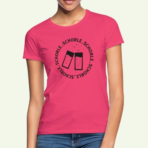 Schorle schwarz - Frauen T-Shirt
