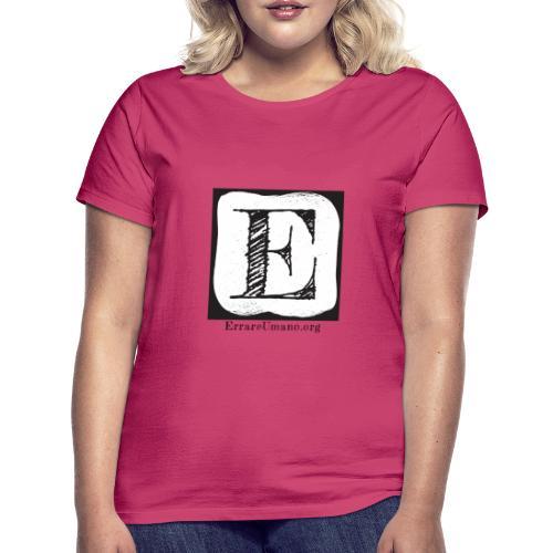 Logo ErrareUmano (scritta nera) - Maglietta da donna