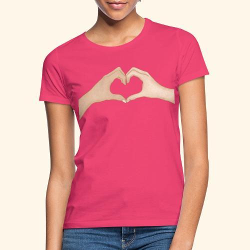 Mains Coeur Amour - Love hands - T-shirt Femme