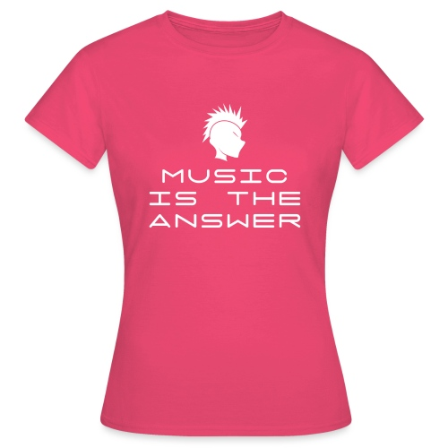 Mohawk Logo - Music is the Answer - Women's T-Shirt