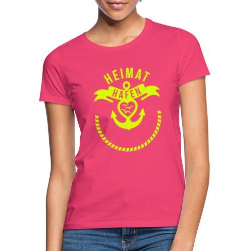 Heimathafen mit Wunschtext - Frauen T-Shirt