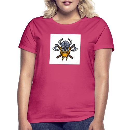 Viking Warrior Skull and Axes badge logo - Women's T-Shirt