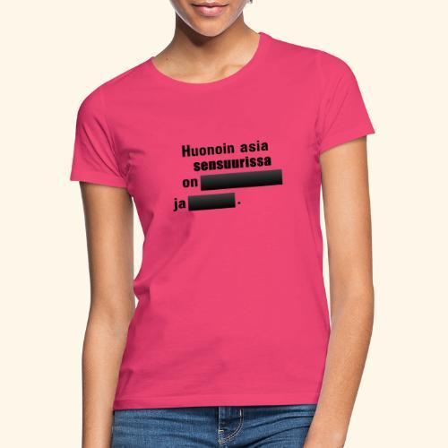 Huonoin asia sensuurissa on (musta) - Naisten t-paita