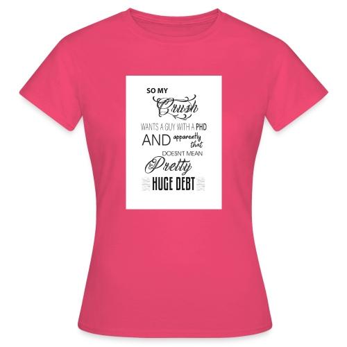 Who's got a PHD. - Women's T-Shirt