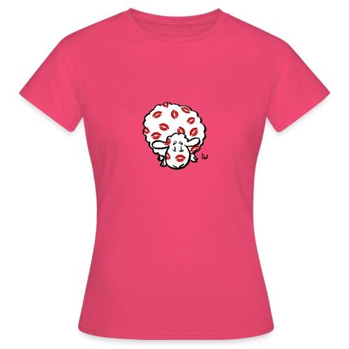 Kiss Ewe - T-skjorte for kvinner