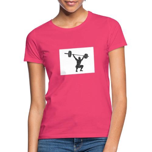 Gewichtheber aufdruck - Frauen T-Shirt