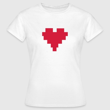 8 Bit Herz; 8 Bit Heart - Koszulka damska